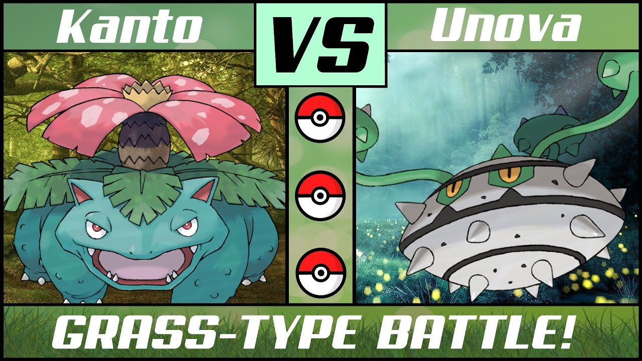Grass Pokémon Battle: KANTO vs UNOVA