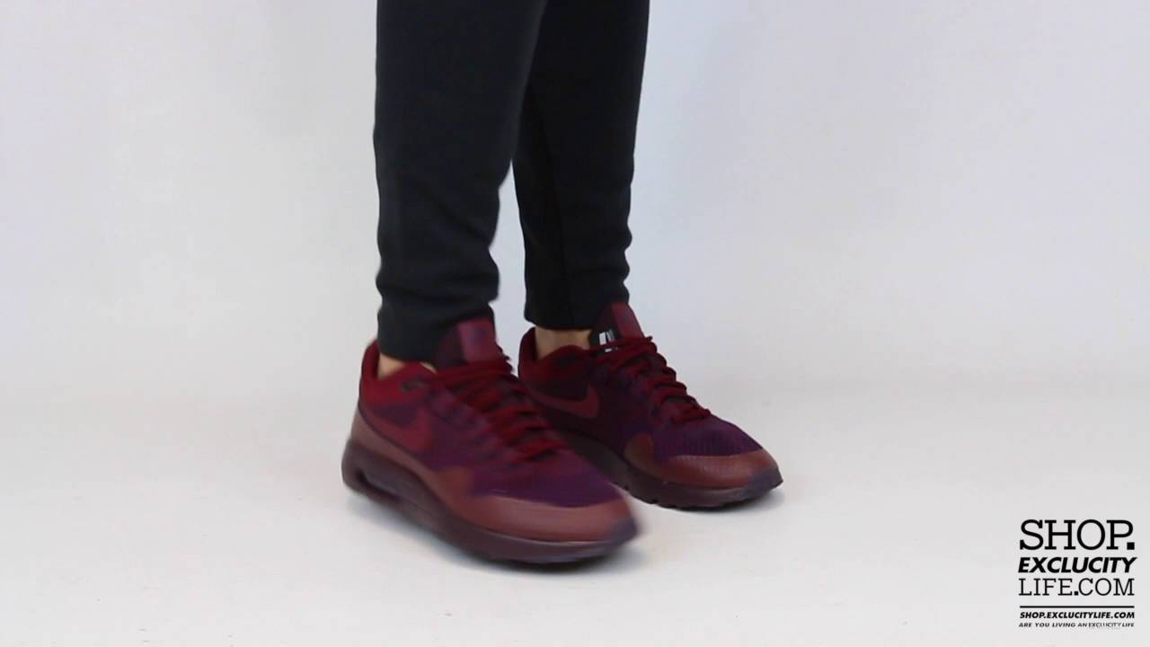 890617e93d Air Max 1 Ultra Flyknit Midnight Maroon On feet Video at Exclucity ...