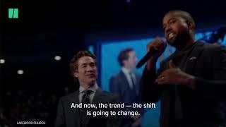 Kanye West speaks at Joel Osteen megachurch