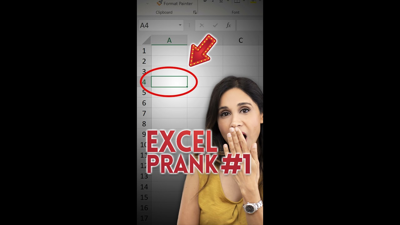 ALL VALUES ERASED! Excel Prank Part 1 #Shorts