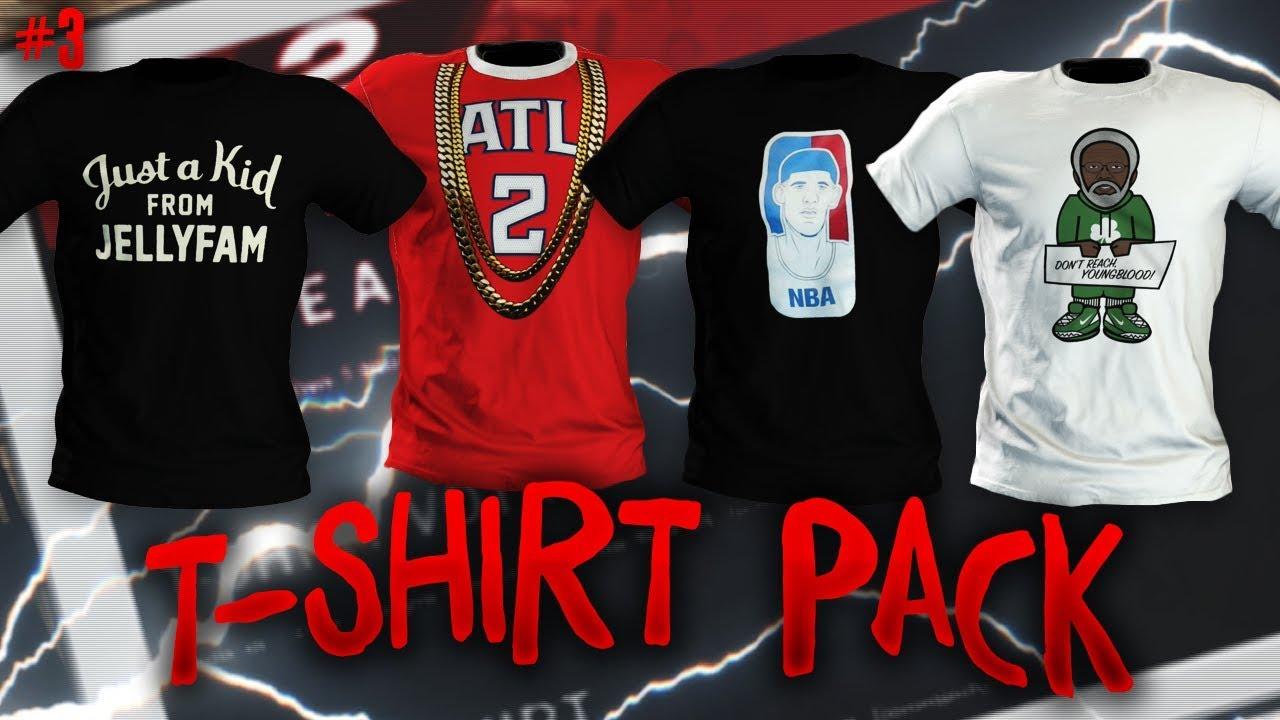 uk availability a8ba5 8c2bb NBA 2K18 MyPARK T Shirt Pack 3 (Jelly Fam, Lonzo Ball, Uncle ...