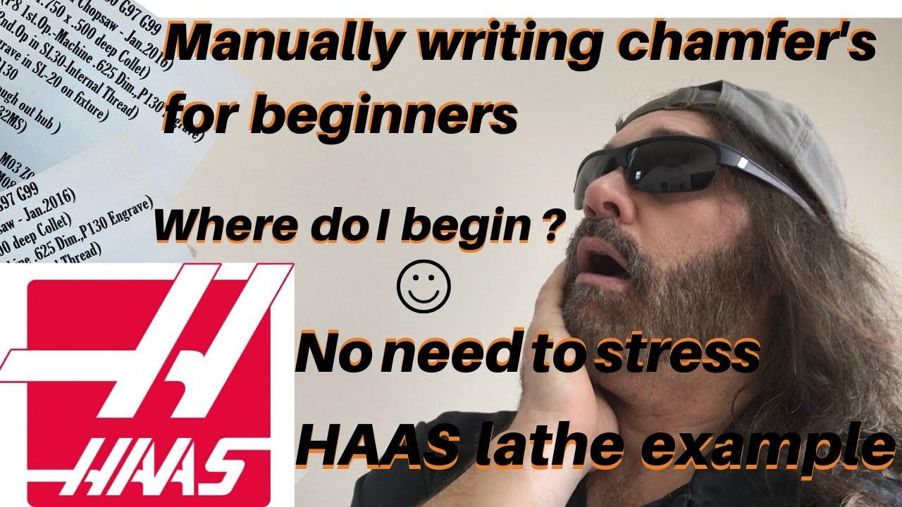 how to program a chamfer on a cnc lathe