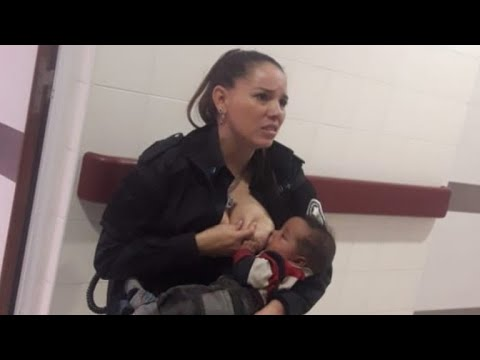 Photo Of Police Officer Breastfeeding Malnourished Baby Goes Viral