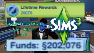 The Sims 3: Xbox 360 - How to start off rich (WITHOUT CHEATS)