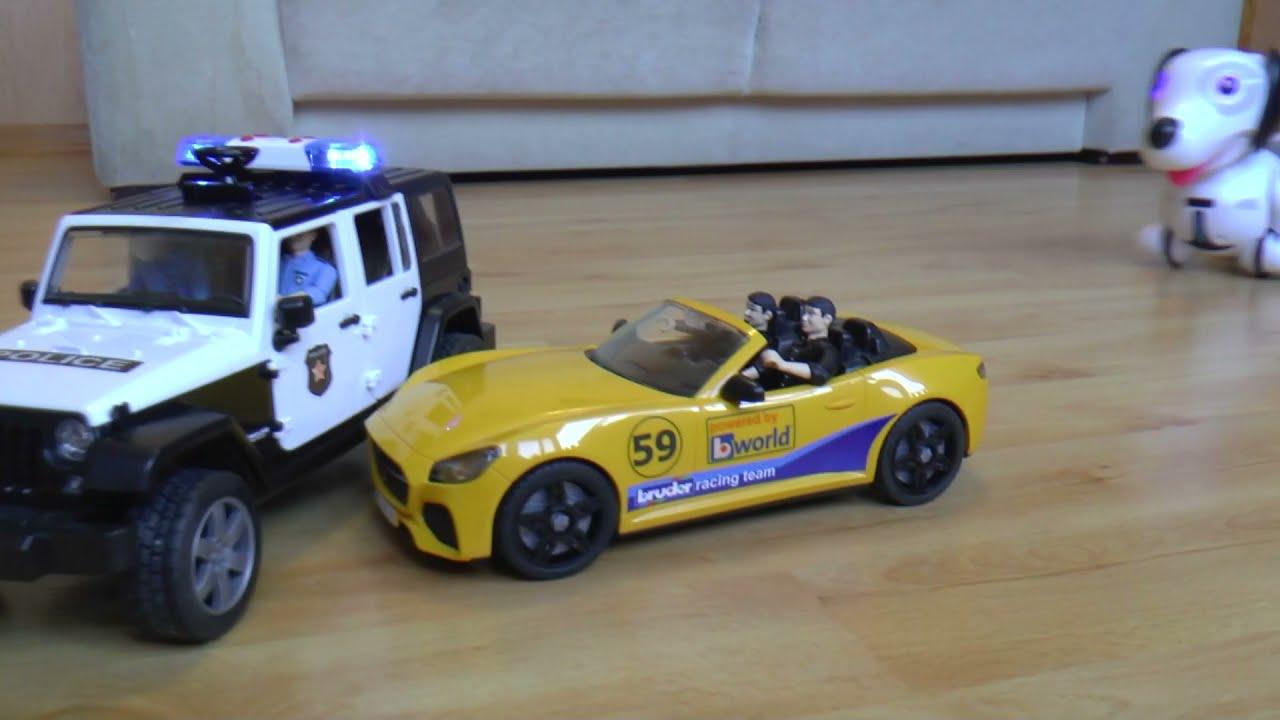 Полицейская машина мультик для детей Сеня играет в полицию и ловит воришек