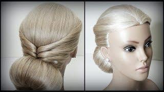 """Быстрая прическа.Прическа с помощью валика""""Бублик"""".Light, Quick Hairstyles.Beautiful hairstyles."""