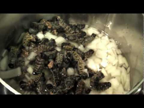 Making Mopane Worm Stew