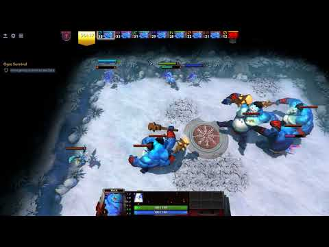 DOTA 2  FROSTIVUS - how to win the Puck game - Ogre survival