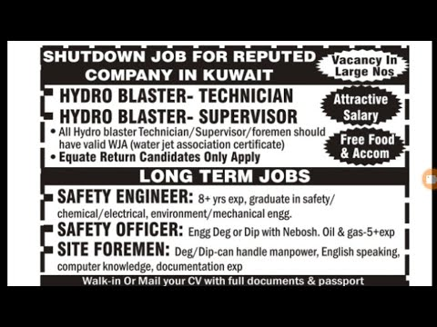 Mix job for kuwait,Qatar, Oman for all types work