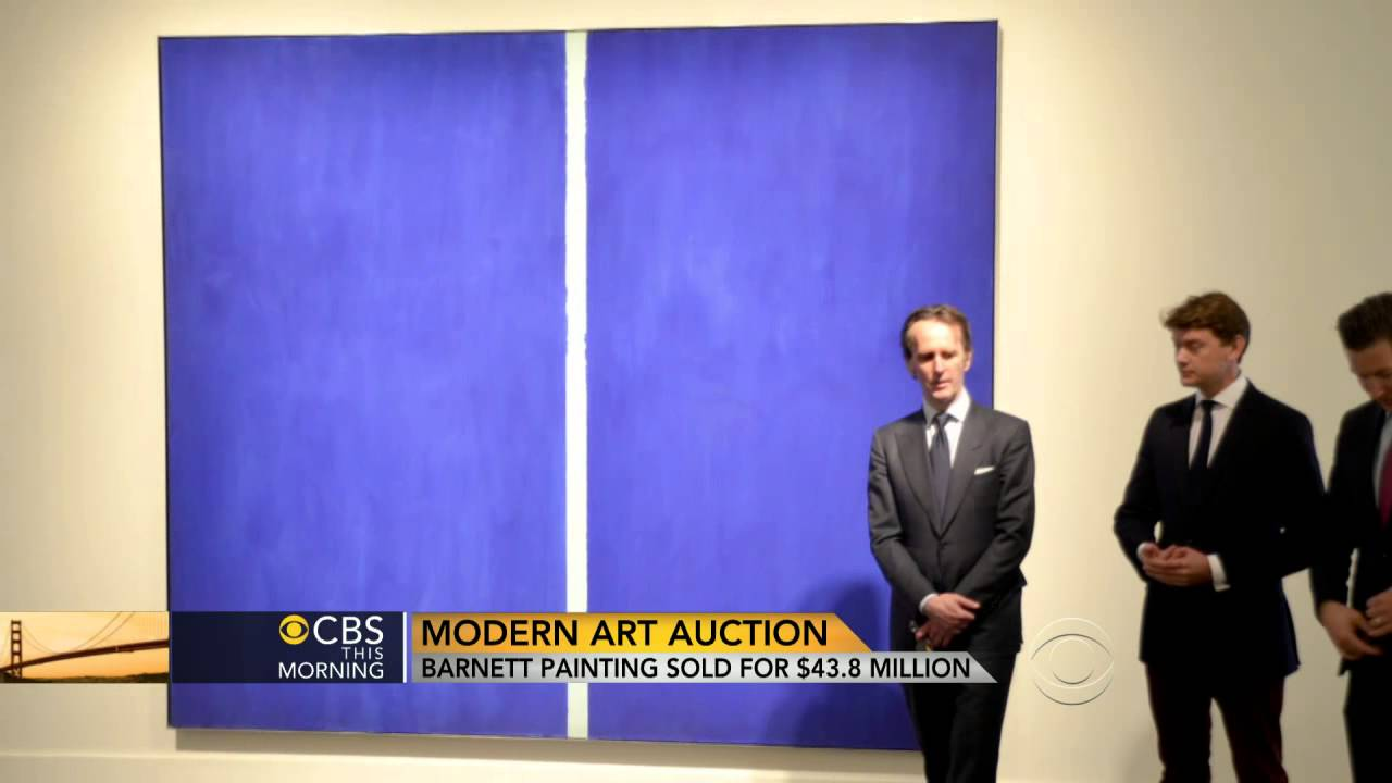 barnett newman painting sells for  43 8 million