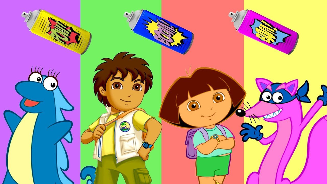 Baby Learn Colors With Wrong Colors Dora The Explorer Dora Marquez