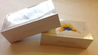 Apple iPhone 6S Silver 16GB & Gold 64GB - Unboxing - #192