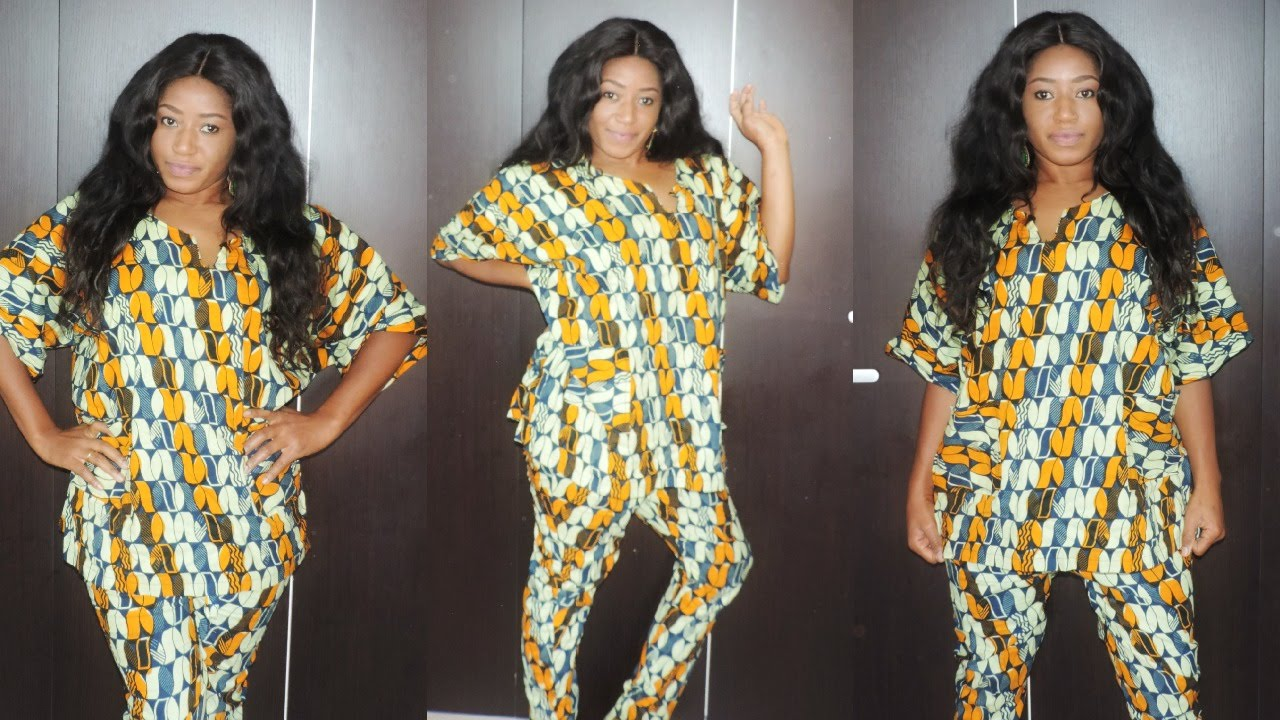Diy ankara t top and pants easy sewing youtube jeuxipadfo Gallery