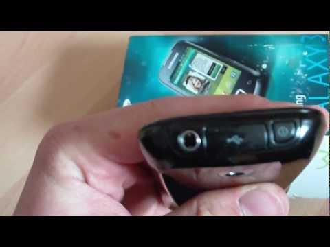 Samsung Galaxy 3 / Apollo GT-i5800 unboxing