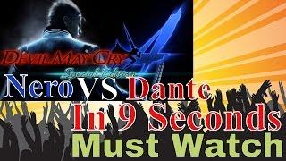DMC4SE Nero vs Dante DMD In 9 Seconds - Devil May Cry 4 Special Edition Mission1