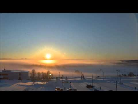 Winter solstice in Fairbanks, Alaska (December 21, 2012)