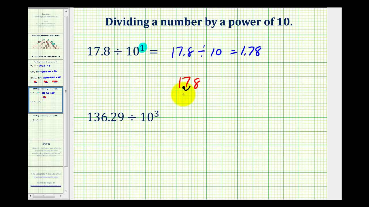 hight resolution of Divide by Powers of Ten (solutions