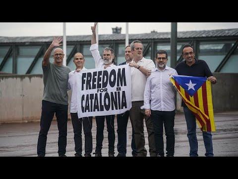 شاهد: زعماء الاستقلال يرفعون راية -الحرية من أجل كتالونيا- بعد العفو عنهم…  - نشر قبل 1 ساعة