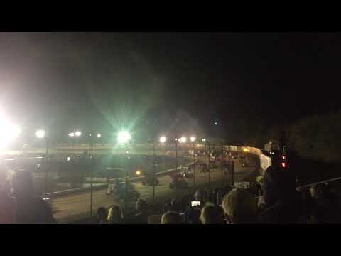 Volusia Speedway Park, World of Outlaws, Sprint Cars, 1000hp!! Warming the tires