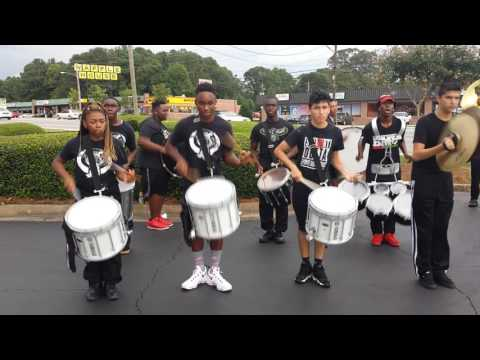 Riverdale High School marching band at Spirit day (percussion section)