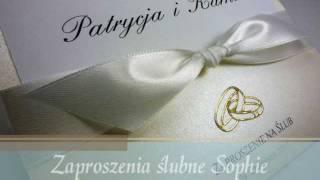 Zaproszenia ślubne Sophie