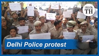 Why are Delhi Police protesting?