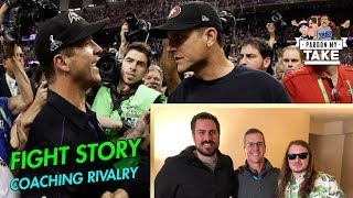 John Harbaugh tells a story about a time Jim Almost Killed Him