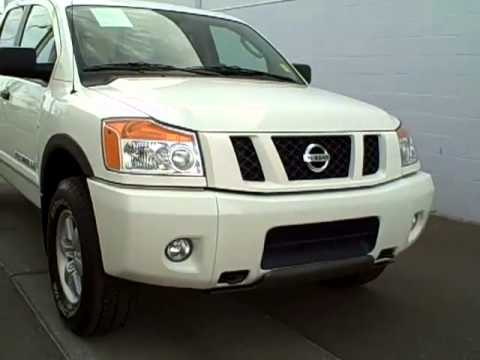 2011 nissan titan pro 4x 4wd n8382a white youtube. Black Bedroom Furniture Sets. Home Design Ideas
