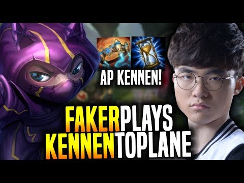 Faker is ready to Play AP Kennen! - SKT T1 Faker SoloQ Playing Kennen Top! | SKT T1 Replays
