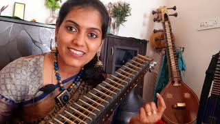 How to play movie songs on Veena |#ranjanisnotes | Ranjani mahesh
