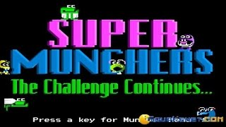 Super Munchers - 1991 PC Game, introduction and gameplay