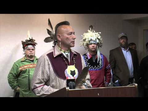 Mohawk Nation   3 Press Conference  and Rally -  Stop the Northeast Energy Direct Pipeline