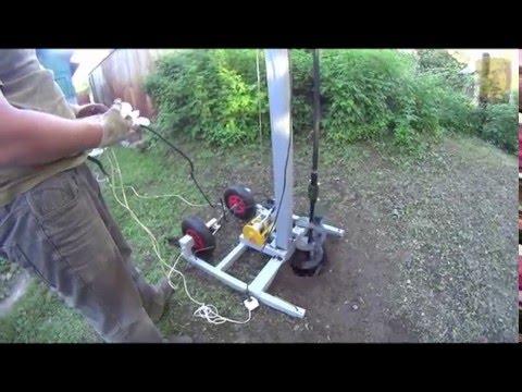 Тест самодельной буровой установки