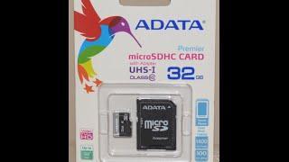 видео ADATA microSD 8Gb