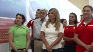 Gobernadora entrega obras de modernización del Centro de Alto Rendimiento