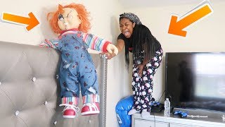 C#UC KY DOLL IS ALIVE SCAR3 PRANK ON GIRLFRIEND!!! (SHE WENT CRAZY)