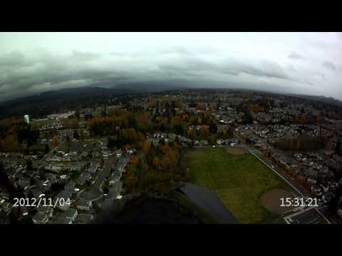 Second video taken with the Hobby King HD Wing Camera II over Honeydew Elementary School Renton WA