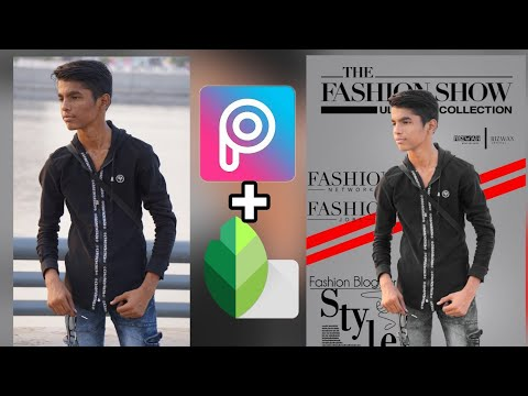 FASHION POSTER DESIGN WITH PICSART AND SNAPSEED TUTORIAL