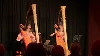 Harp duo Dyade - klassieke muziek - concert Bob&Gon Aalsmeer