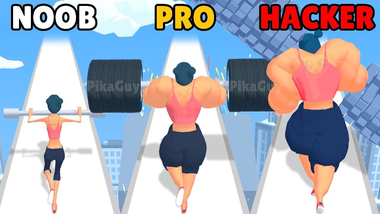 NOOB vs PRO vs HACKER in Weight Runner 3D