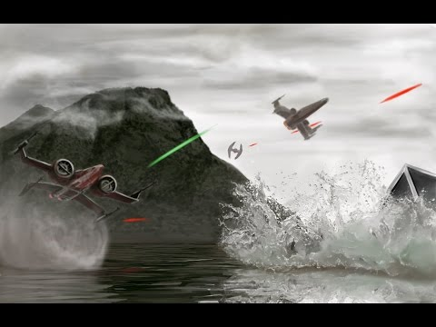 Star Wars photoshop speed painting