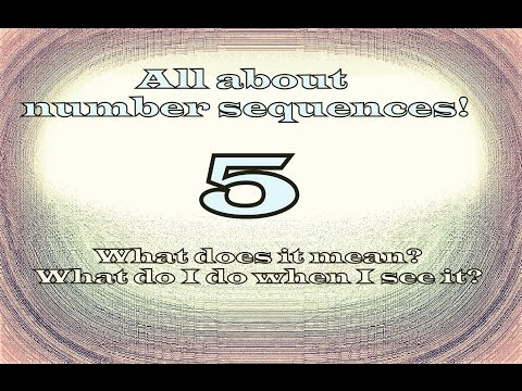 Seeing 5, what is the spiritual of 5? NUMBER SEQUENCES PART 4