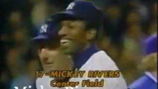 1976 ALCS Game 5 Introduction of Mickey Rivers