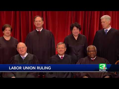 Top court: Unions can't force government workers to pay fees