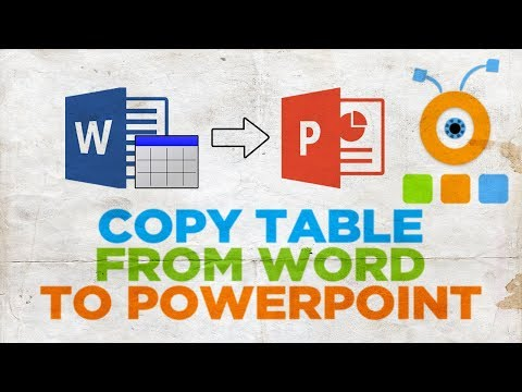 How to Copy Table from Microsoft Word to PowerPoint