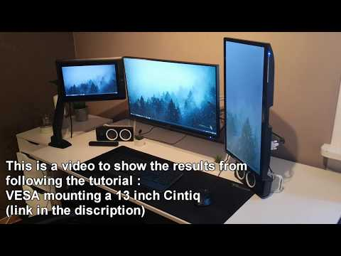Cintiq 13HD DIY VESA Mounting (Results).