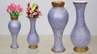 Big size flower vase make at home // Paper roll Flower vase for home decoration