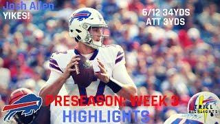 Josh Allen Preseason Week 3 Highlights | Immense Pressure 08.26.2018