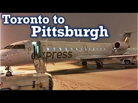 Full Flight: Air Canada Express CRJ-200 Toronto-Pearson to Pittsburgh (YYZ-PIT)