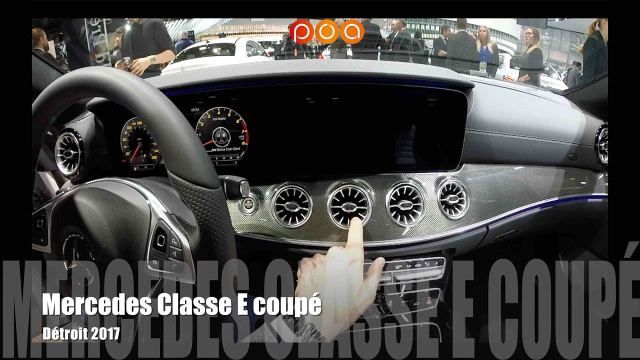 nouvelle mercedes classe e coup 2017 salon automobile de detroit 2017 youtube. Black Bedroom Furniture Sets. Home Design Ideas